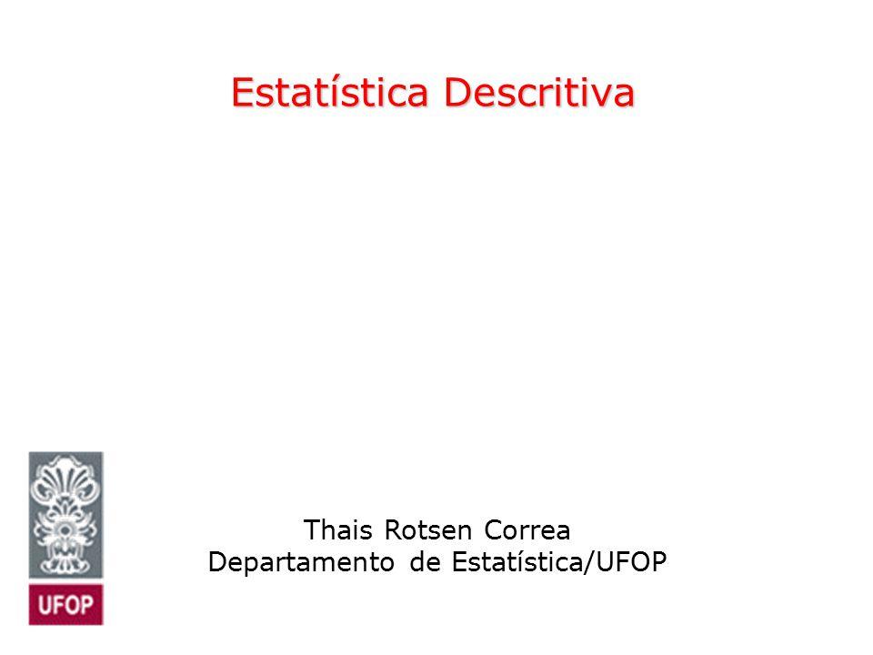 Estatística Descritiva Thais Rotsen Correa Departamento de Estatística/UFOP
