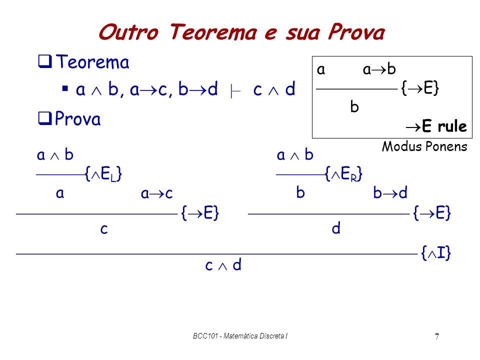 Regras de Inferência BCC101 - Matemática Discreta I 8