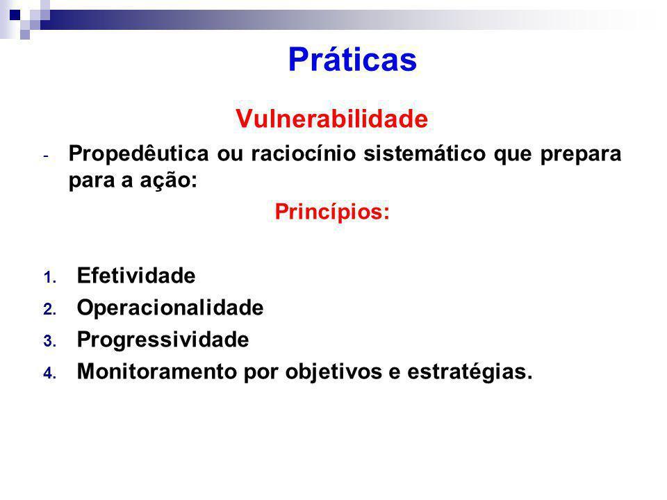 Vulnerabilidade - Propedêutica ou raciocínio sistemático que prepara para a ação: Princípios: 1.