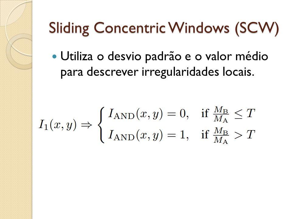 Utiliza o desvio padrão e o valor médio para descrever irregularidades locais.