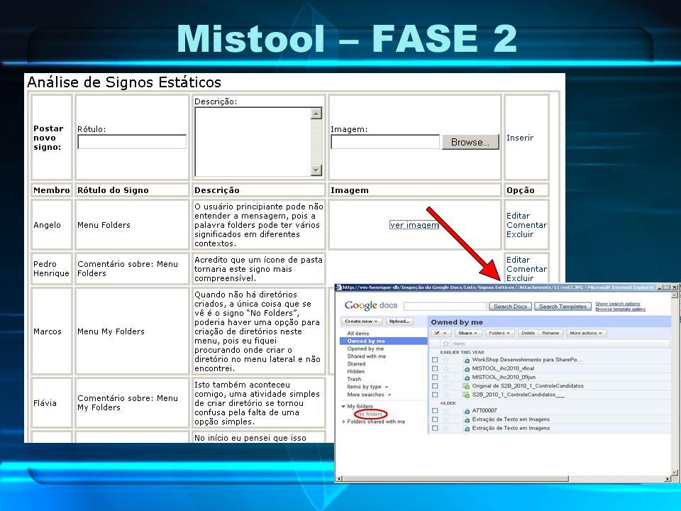 Mistool – FASE 2