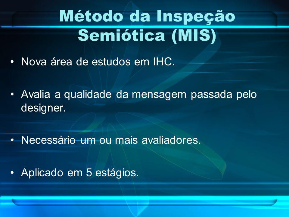 Método da Inspeção Semiótica (MIS) Extraído de [de Souza, et al., 2006]