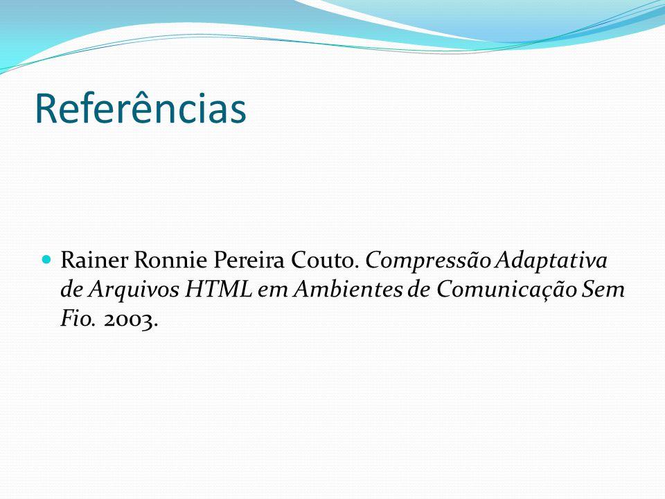 Referências Rainer Ronnie Pereira Couto.