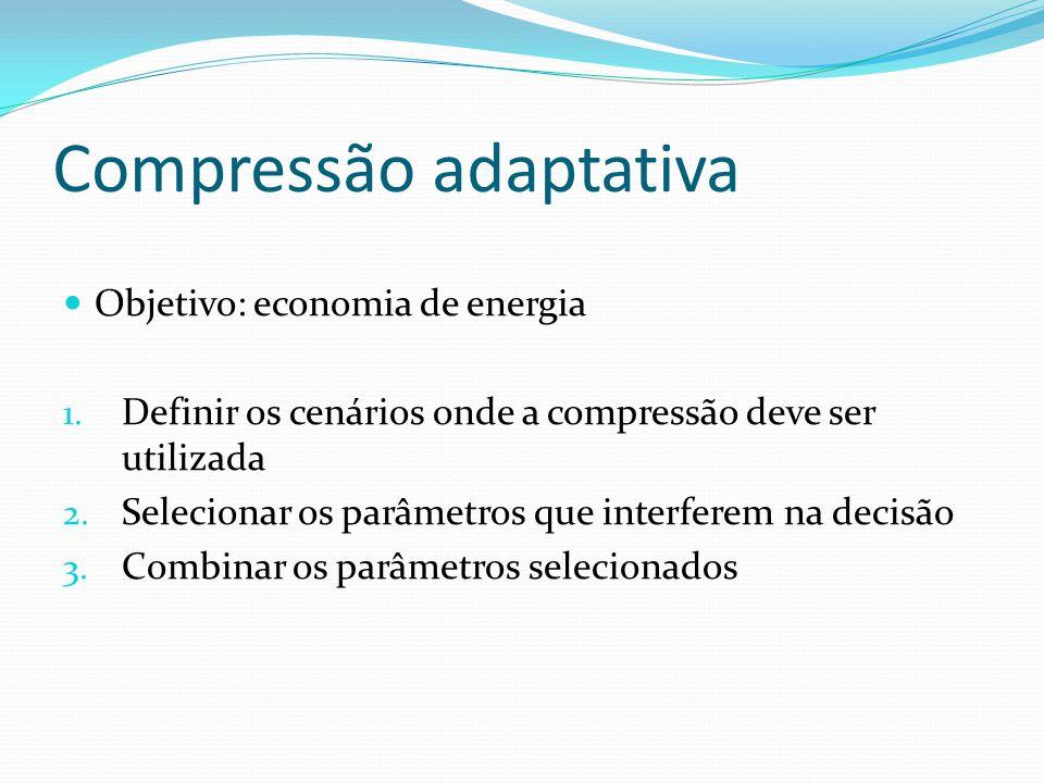 Compressão adaptativa Objetivo: economia de energia 1.