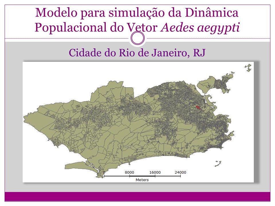 Modelo para simulação da Dinâmica Populacional do Vetor Aedes aegypti Cidade do Rio de Janeiro, RJ