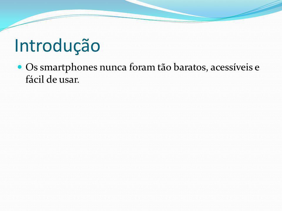 Introdução Os smartphones nunca foram tão baratos, acessíveis e fácil de usar.