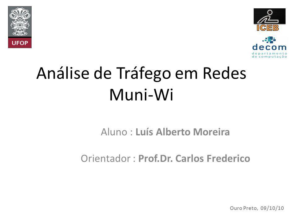 Análise de Tráfego em Redes Muni-Wi Aluno : Luís Alberto Moreira Orientador : Prof.Dr.