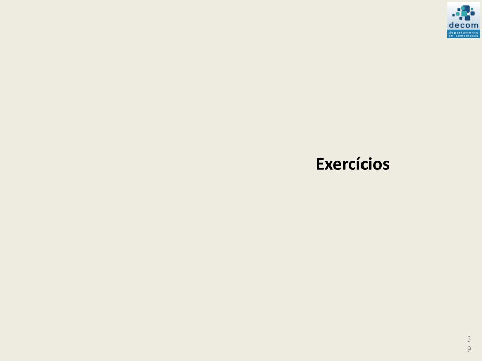 39 Exercícios