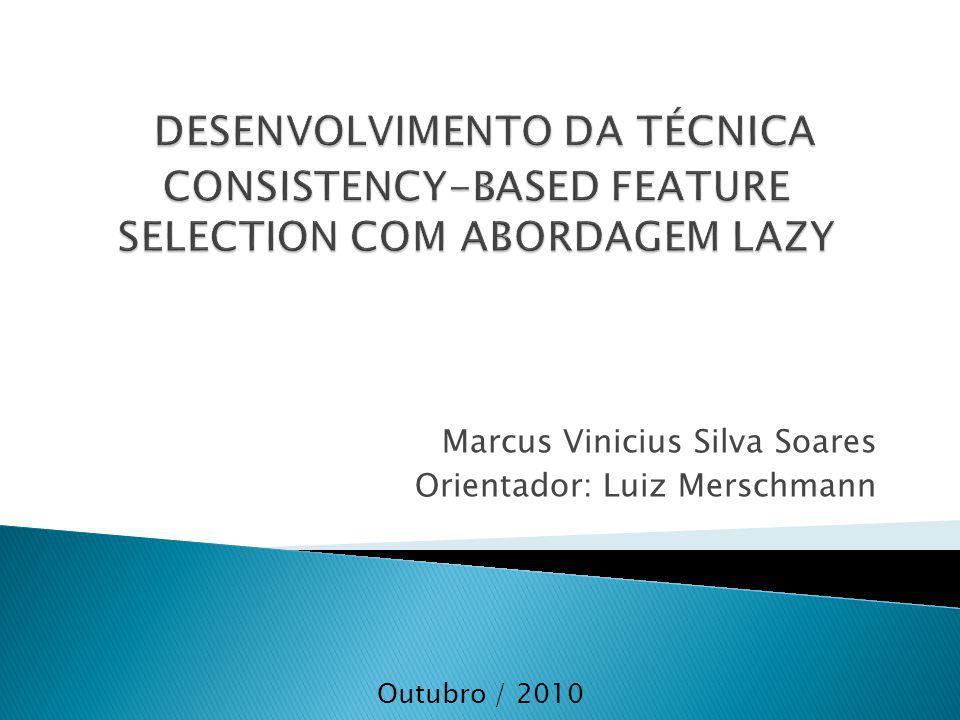 Marcus Vinicius Silva Soares Orientador: Luiz Merschmann Outubro / 2010