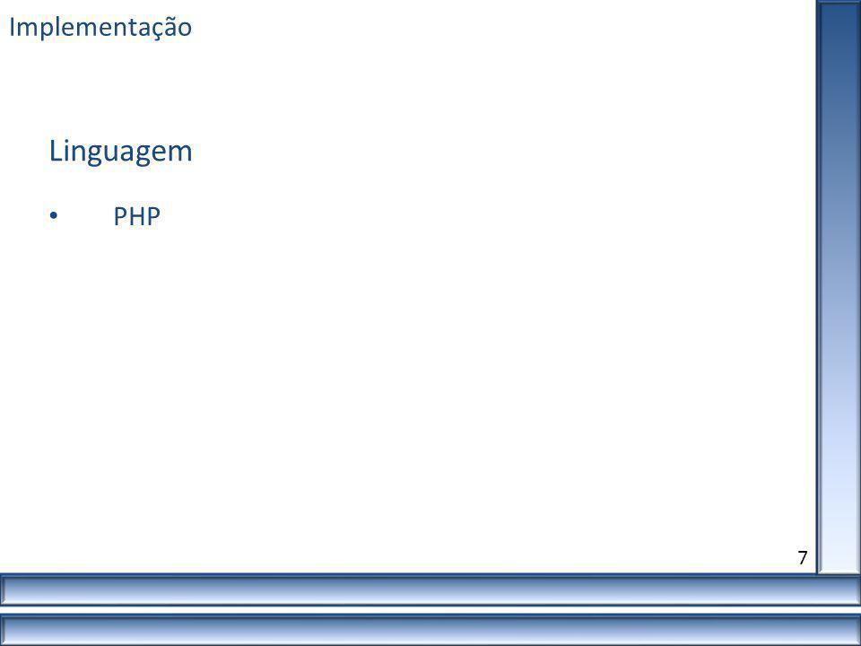 Implementação 7 PHP Linguagem