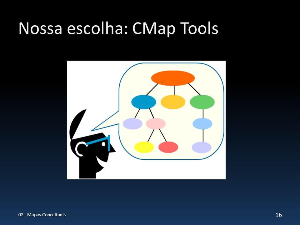 Nossa escolha: CMap Tools 02 - Mapas Conceituais 16