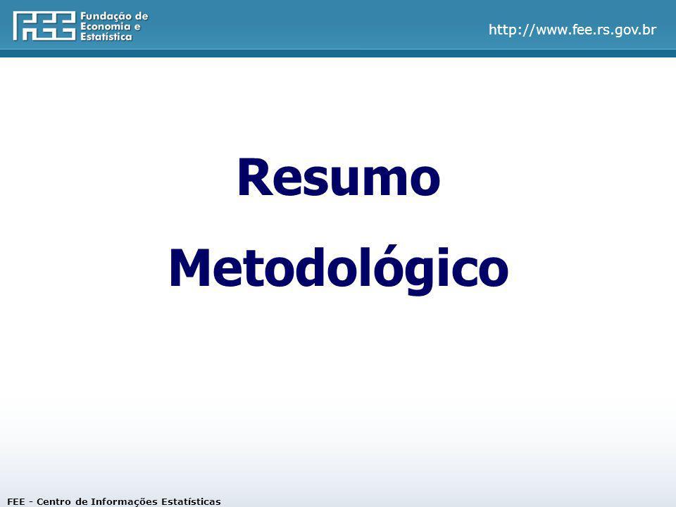 http://www.fee.rs.gov.br FEE - Centro de Informações Estatísticas