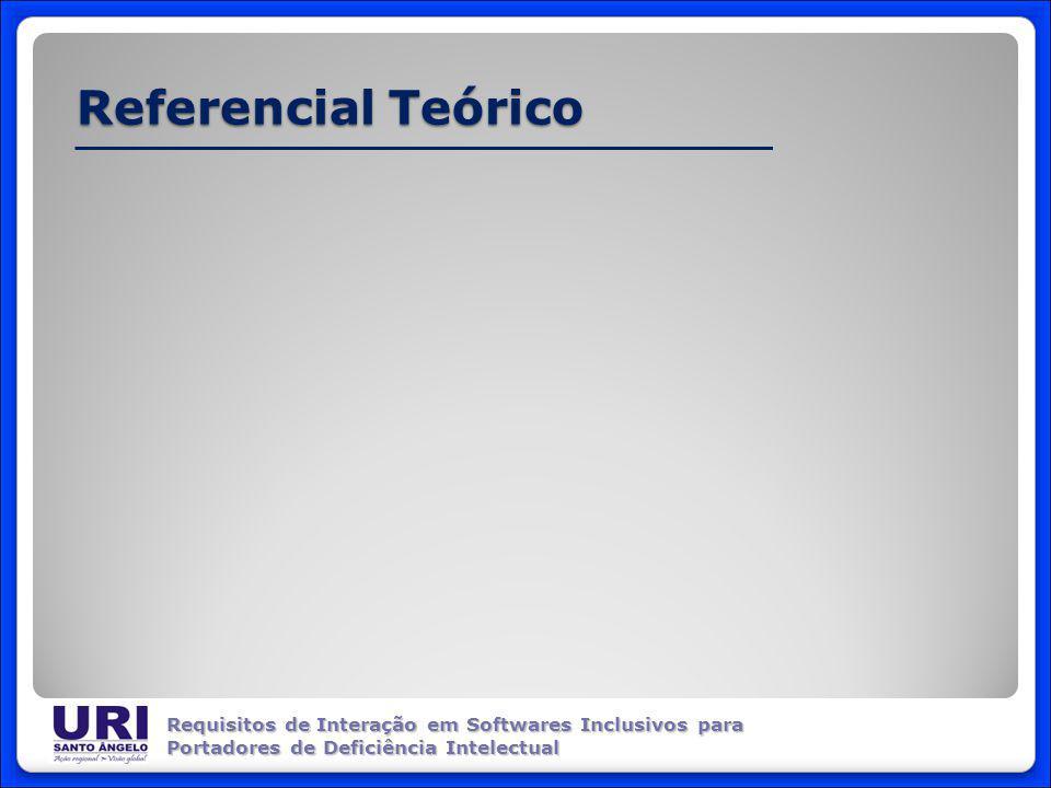 Referencial Teórico Requisitos de Interação em Softwares Inclusivos para Portadores de Deficiência Intelectual
