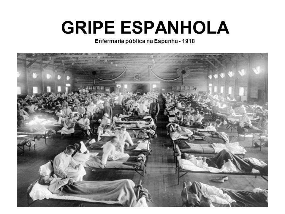 GRIPE ESPANHOLA Enfermaria pública na Espanha - 1918
