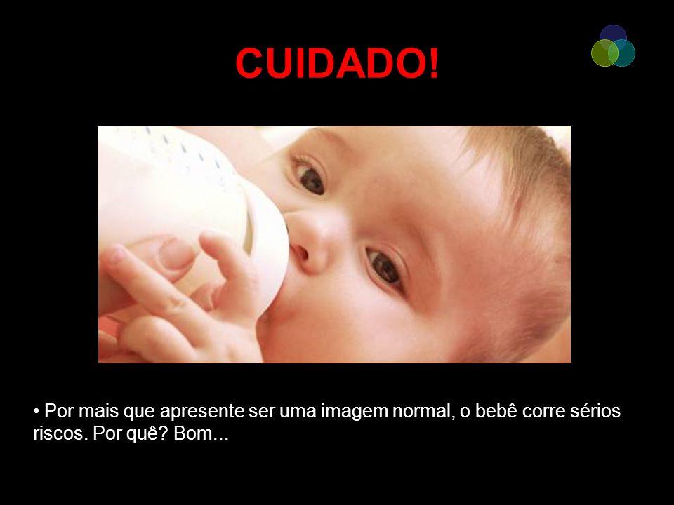 CUIDADO! Por mais que apresente ser uma imagem normal, o bebê corre sérios riscos. Por quê? Bom...