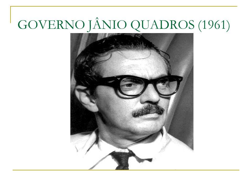O GOVERNO JANGO O BRASIL TEVE TRÊS PRIMEIROS-MINISTROS: - TANCREDO NEVES - BROCHADO DA ROCHA - HERMES LIMA JANGO IMPLANTA O PLANO TRIENAL ( 1962 ) = PARA COMBATER A INFLAÇÃO E PROMOVER O DESENVOLVIMENTO ECONÔMICO ENTRE AS PROPOSTAS DO PLANO TRIENAL, ESTAVAM AS REFORMAS DE BASE JANEIRO DE 1961: PLEBISCITO = RETORNO DO PRESIDENCIALISMO