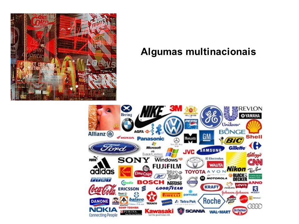 Algumas multinacionais