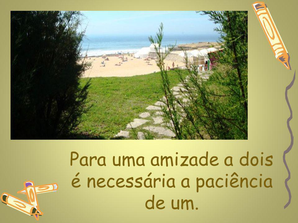 www.planetapowerpoint.com.br Para uma amizade a dois é necessária a paciência de um.