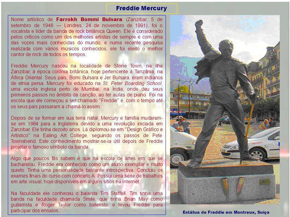 Decida qual seu roteiro, clicando nos links abaixo Conheça um pouco da vida de Freddie Mercury Montserrat Caballé, saiba um pouco de sua vida Créditos - sair PAZPAZ