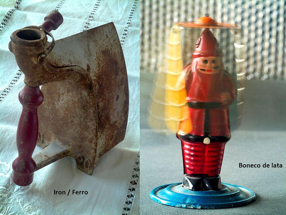 Boneco de lata Iron / Ferro