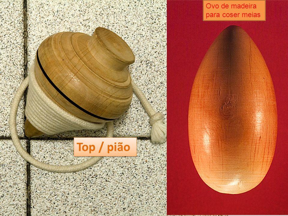 Top / pião Ovo de madeira para coser meias