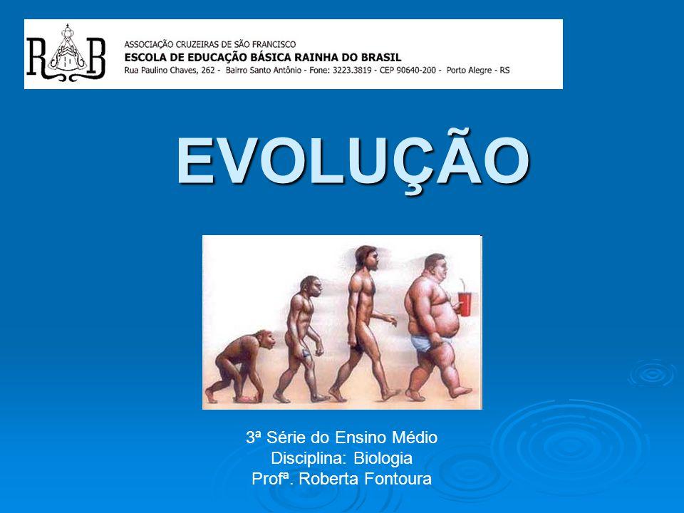 EVOLUÇÃO 3ª Série do Ensino Médio Disciplina: Biologia Profª. Roberta Fontoura