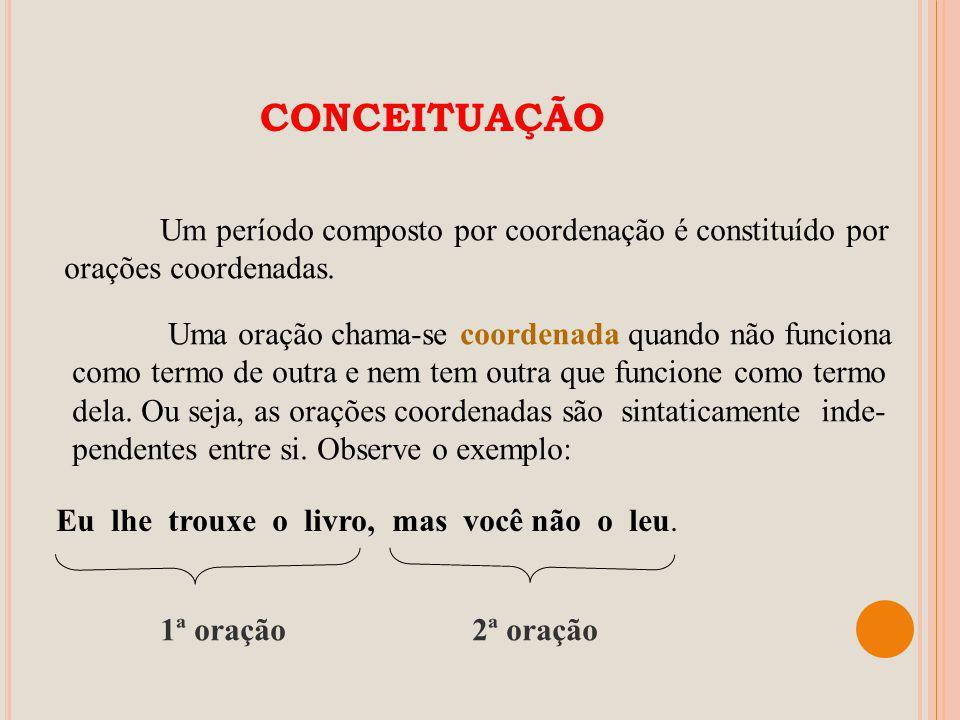 PERÍODO COMPOSTO POR COORDENAÇÃO Orações coordenadas Profº.: Jair Nascimento