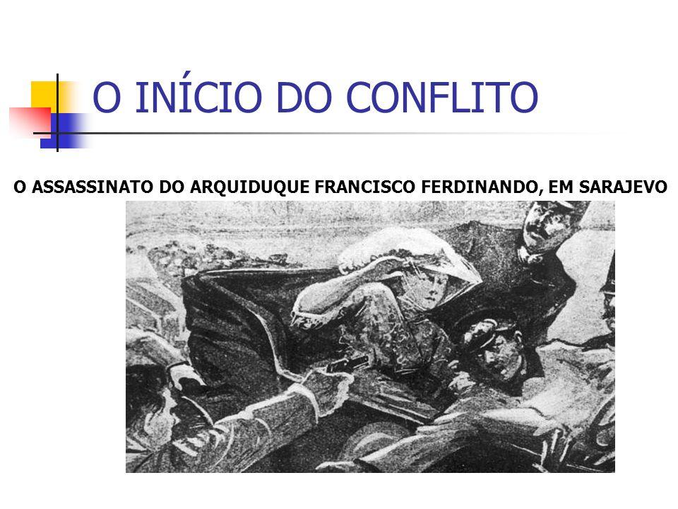 O INÍCIO DO CONFLITO O ASSASSINATO DO ARQUIDUQUE FRANCISCO FERDINANDO, EM SARAJEVO