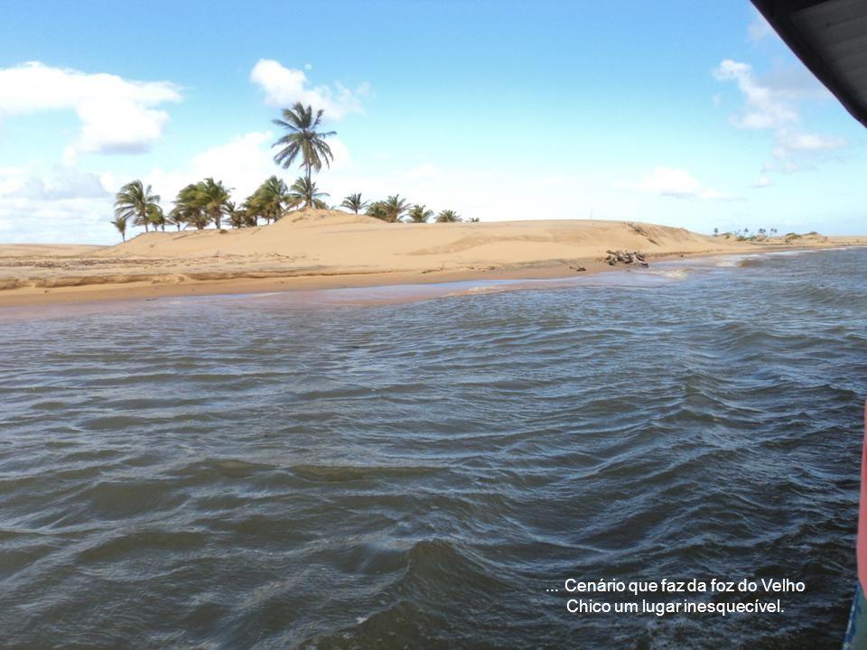 ...O sinal que o encontro com o mar está bem próximo é dado pelas ilhas com coloridas dunas...