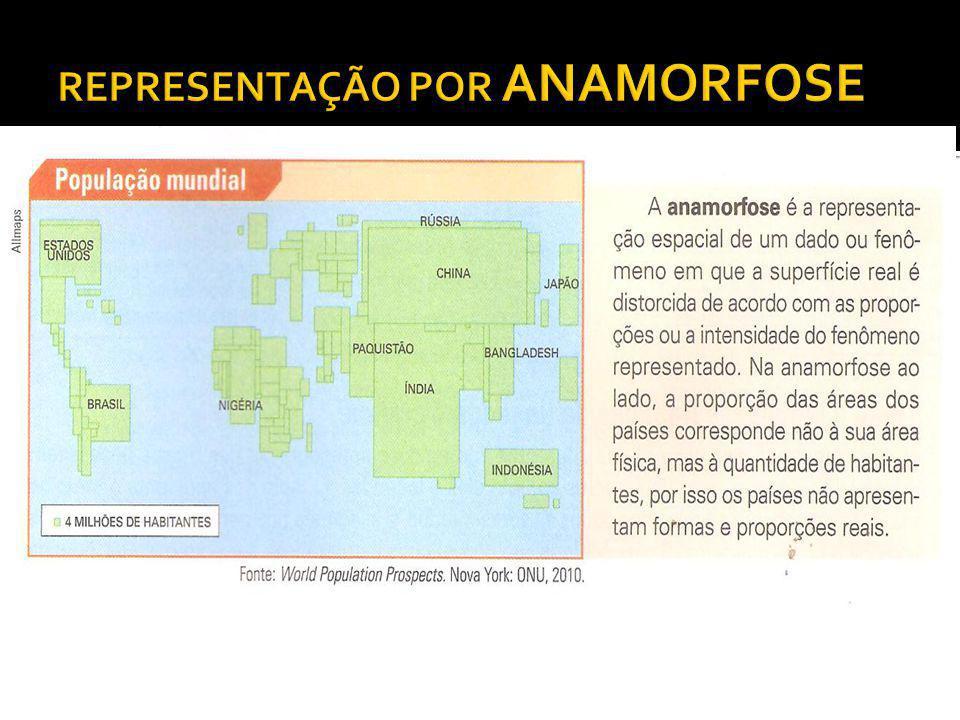 Desafio!!.A anamorfose ao lado representa: I. População e Número de turistas recebidos II.