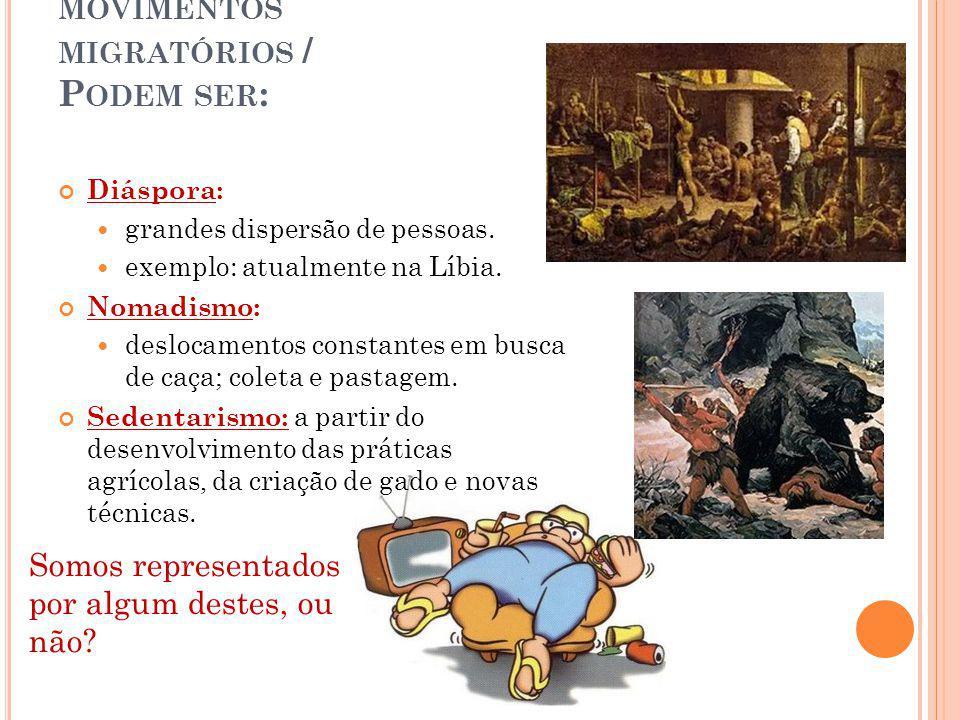 MIGRAÇÃO: DESLOCAMENTO DA POPULAÇÃO PELO ESPAÇO.PODE SER UM FENÔMENO HISTÓRICO E SOCIAL.