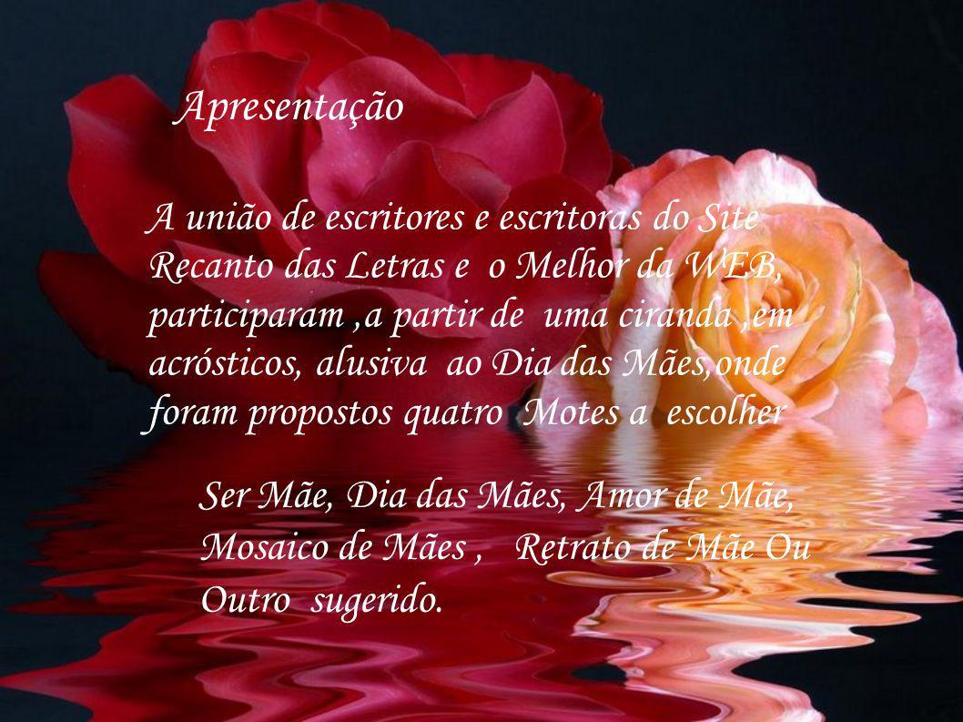 RETRATO DE MÃE – Germania R.Rosas, cravos e margarida E.