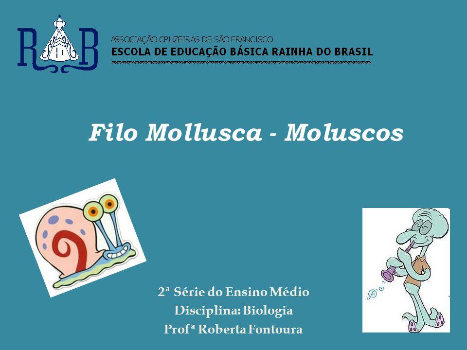 Filo Mollusca - Moluscos 2ª Série do Ensino Médio Disciplina: Biologia Profª Roberta Fontoura