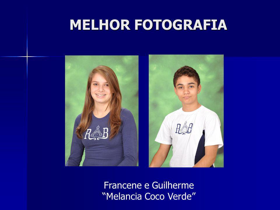 MELHOR FOTOGRAFIA Francene e Guilherme Melancia Coco Verde
