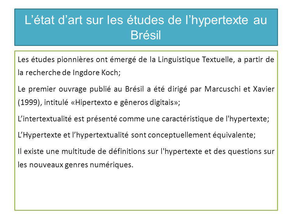 Références: études sur hypertexte ARAÚJO, J.C. R.