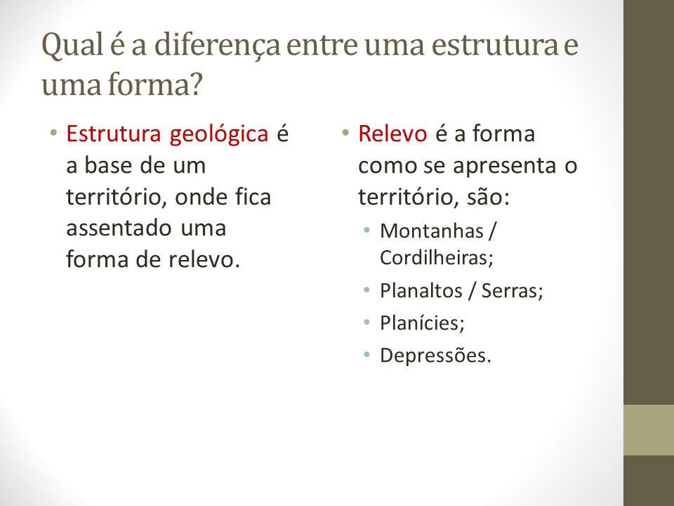 Qual é a diferença entre uma estrutura e uma forma.