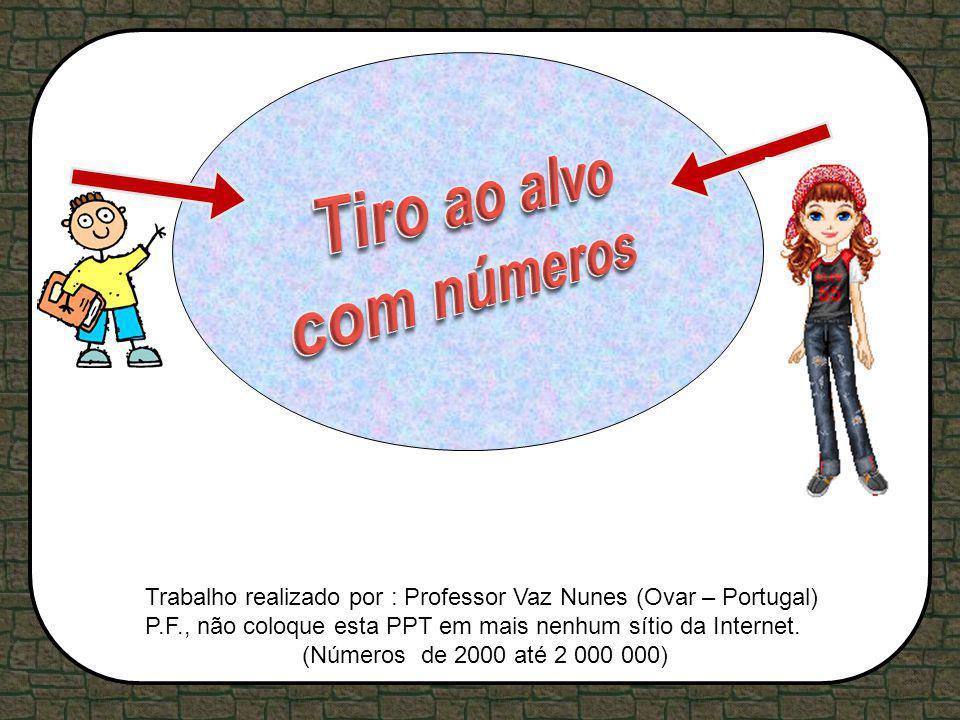 Trabalho realizado por : Professor Vaz Nunes (Ovar – Portugal) P.F., não coloque esta PPT em mais nenhum sítio da Internet. (Números de 2000 até 2 000