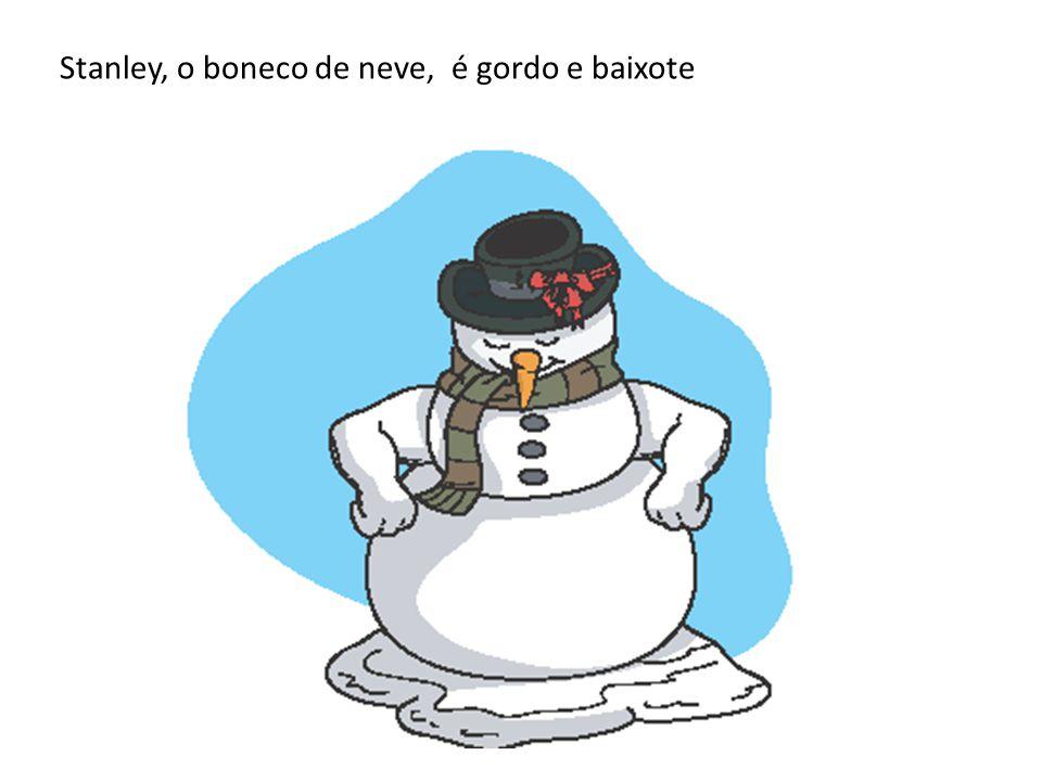 Stanley, o boneco de neve, é gordo e baixote