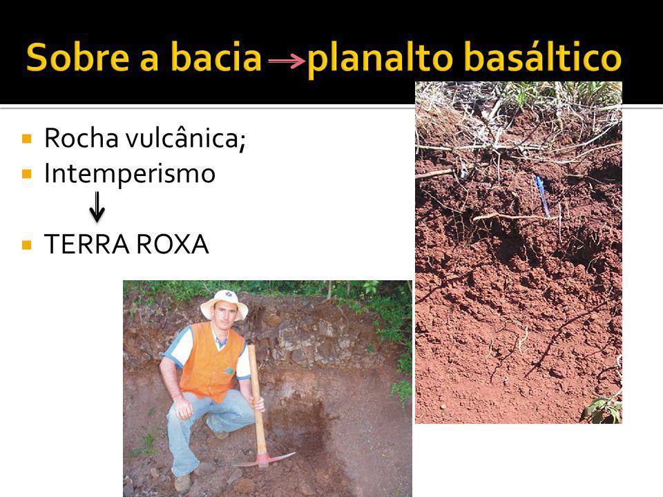 Rocha vulcânica; Intemperismo TERRA ROXA