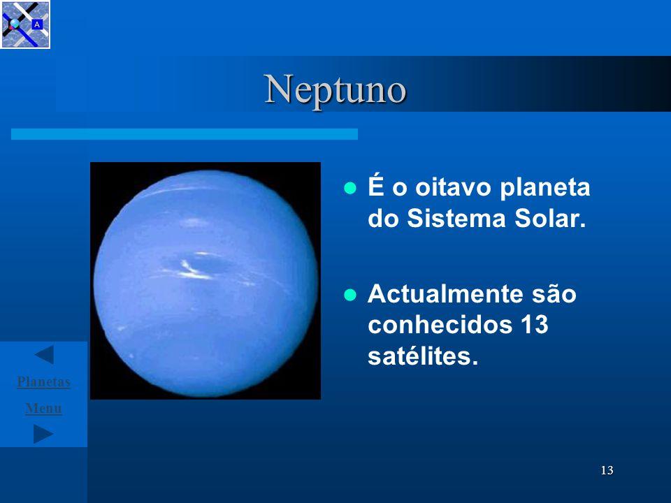 Menu Planetas 12 Urano Foi o primeiro planeta descoberto com a ajuda de um telescópio.
