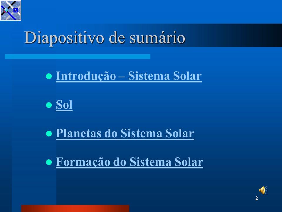 O Sistema Solar Centro de Competência da Malha Atlântica 6 de Dezembro de 2005