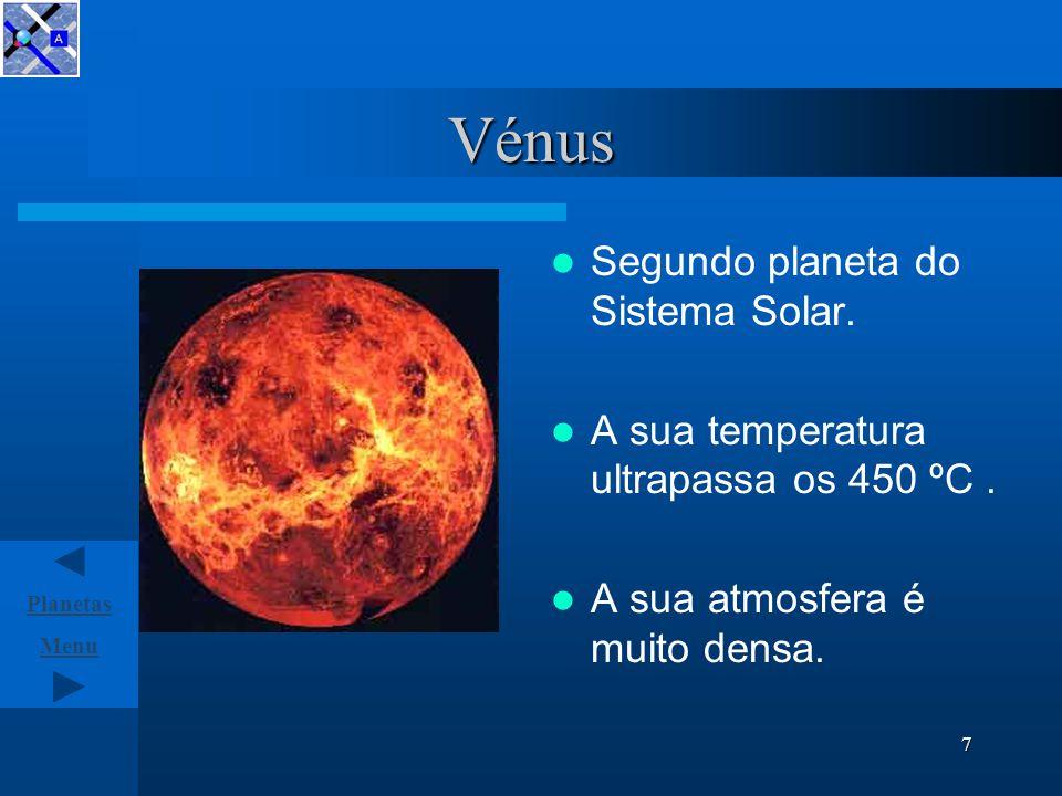 Menu Planetas 6 Mercúrio Mercúrio é o planeta mais próximo do Sol.