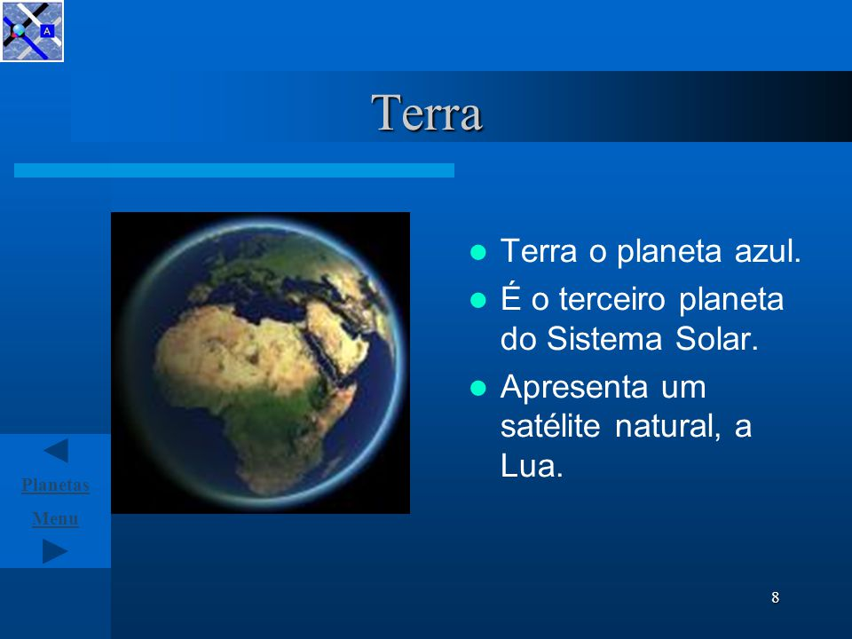 Menu Planetas 7 Vénus Segundo planeta do Sistema Solar.