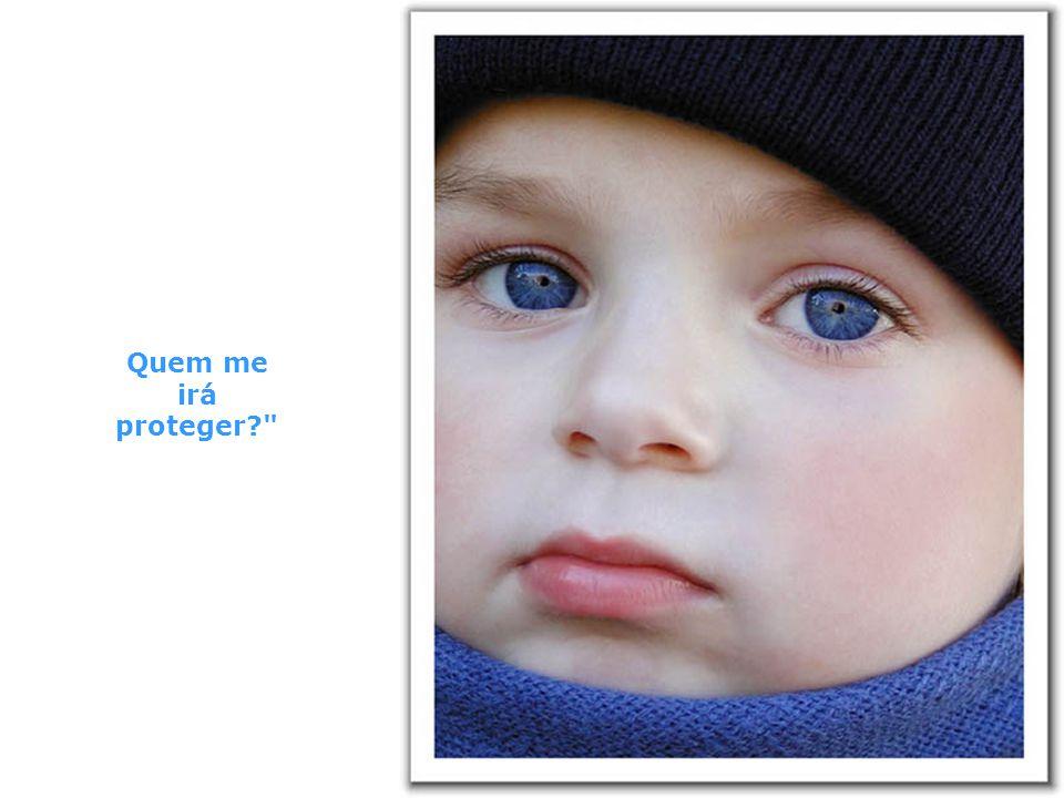 A criança disse, Ouvi dizer que na Terra existem homens maus.
