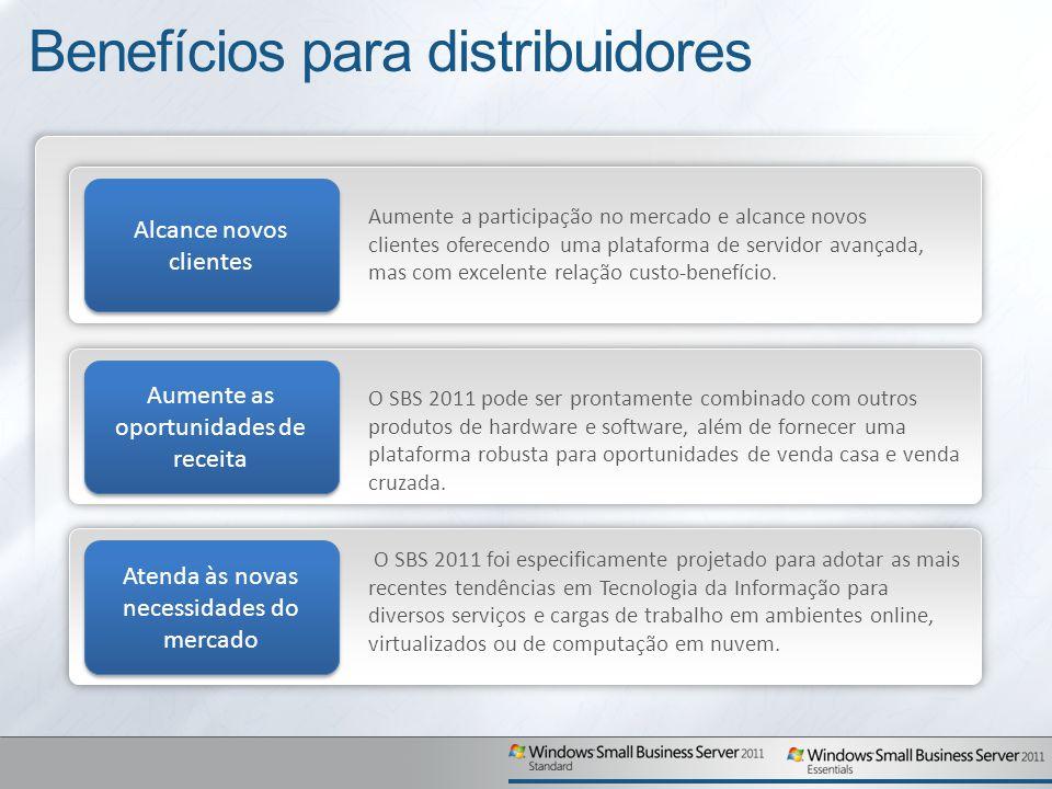Benefícios para distribuidores Alcance novos clientes Aumente a participação no mercado e alcance novos clientes oferecendo uma plataforma de servidor avançada, mas com excelente relação custo-benefício.