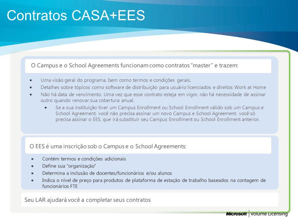 O Campus e o School Agreements funcionam como contratos master e trazem: Uma visão geral do programa, bem como termos e condições gerais. Detalhes sob