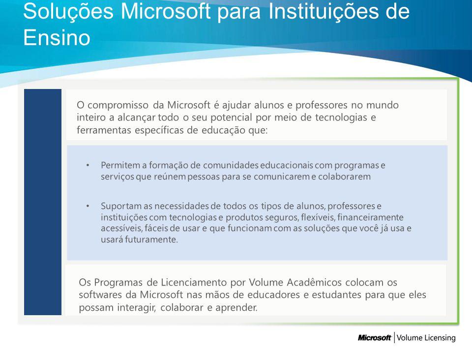 O compromisso da Microsoft é ajudar alunos e professores no mundo inteiro a alcançar todo o seu potencial por meio de tecnologias e ferramentas especí