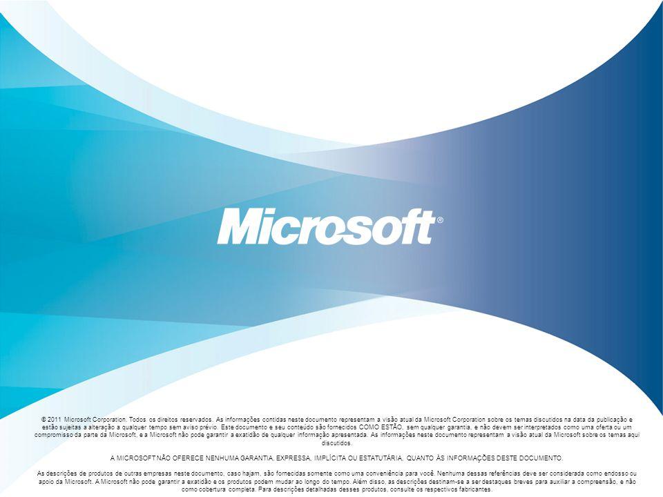 © 2011 Microsoft Corporation. Todos os direitos reservados. As informações contidas neste documento representam a visão atual da Microsoft Corporation