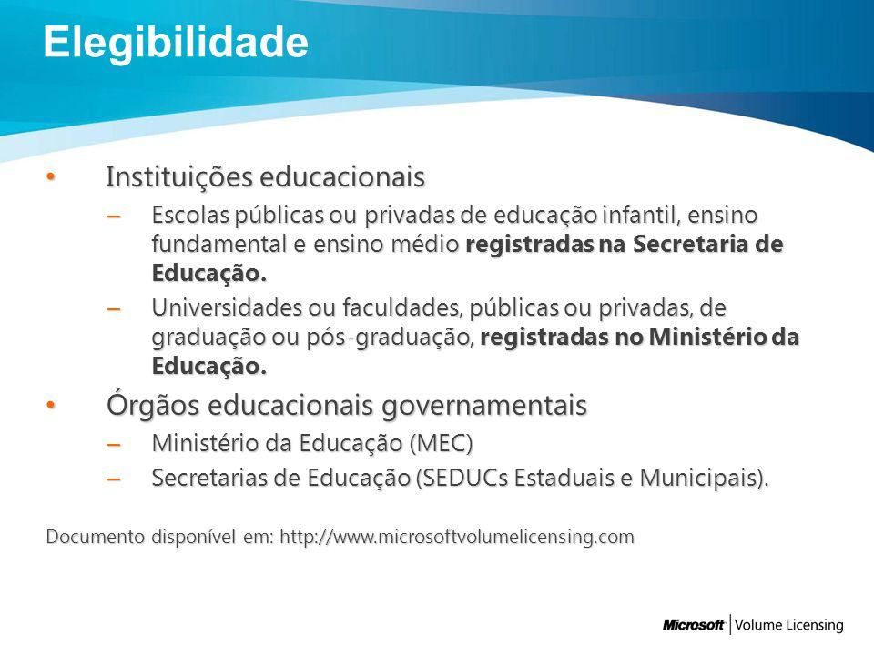 Instituições educacionais Instituições educacionais – Escolas públicas ou privadas de educação infantil, ensino fundamental e ensino médio registradas