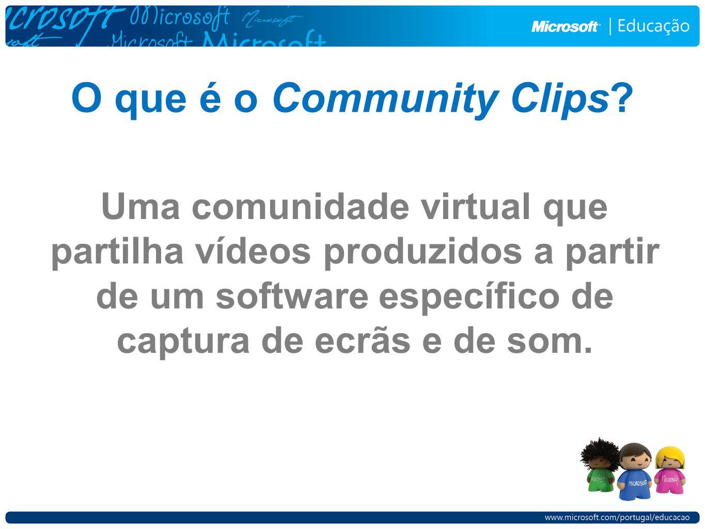 Uma comunidade virtual que partilha vídeos produzidos a partir de um software específico de captura de ecrãs e de som.